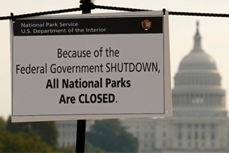 National parks are closed as an effect of a government shutdown.