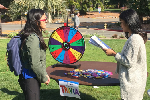 Dominican Univeristy of California played quizzed students with debt trivia.