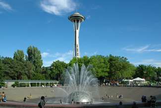 The famous Seattle landmark, the Space Needle.