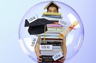 A student with college loan debt.