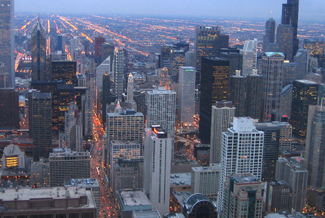 Chicago is a hub for the manufacturing industry.