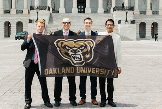 Oakland University's winning team members.